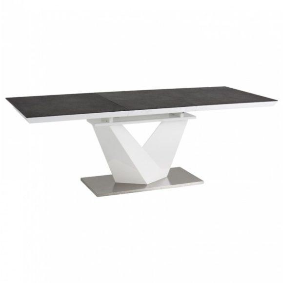 Ava II Bővíthető Étkezőasztal 160 - 220 cm / Fekete - Fehér