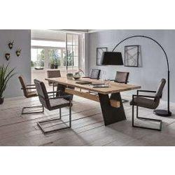 Barthold Tölgyfa Étkezőasztal 180 cm / Fekete