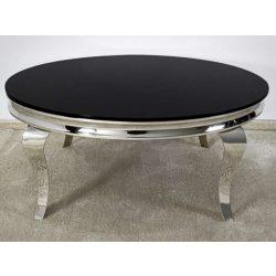Grant Dohányzóasztal 100 cm / Ezüst / Fekete