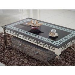 Victoria Fiókos Dohányzóasztal / Fekete / 130 cm