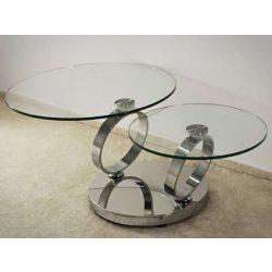 Alison Forgatható Asztallapos Dohányzóasztal 80 cm / Üveg