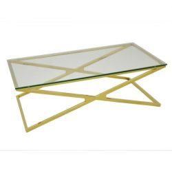 Zander Dohányzóasztal 130 cm / Arany