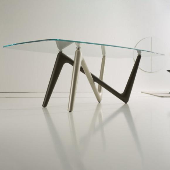 Esse üveg étkezőasztal 240cm
