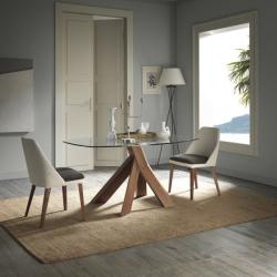 Moá étkezőasztal üveg 152cm