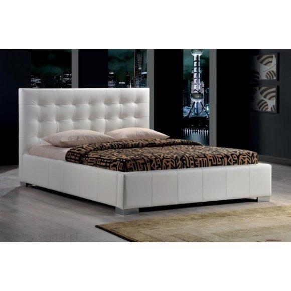 Calvino D Ágykeret 160 cm Textilbőr / Fehér