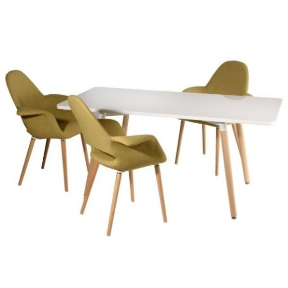 Corina Asztal 120 cm x 80 cm Fehér