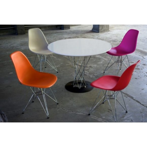 Cristal Asztal 100 cm Fehér