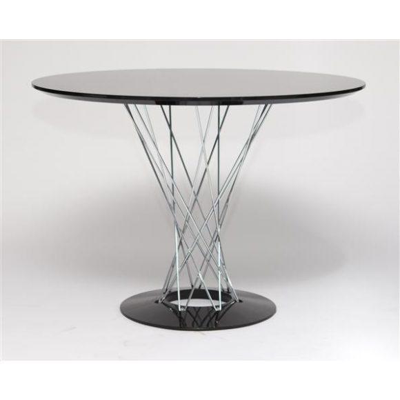 Cristal Asztal 100 cm Fekete