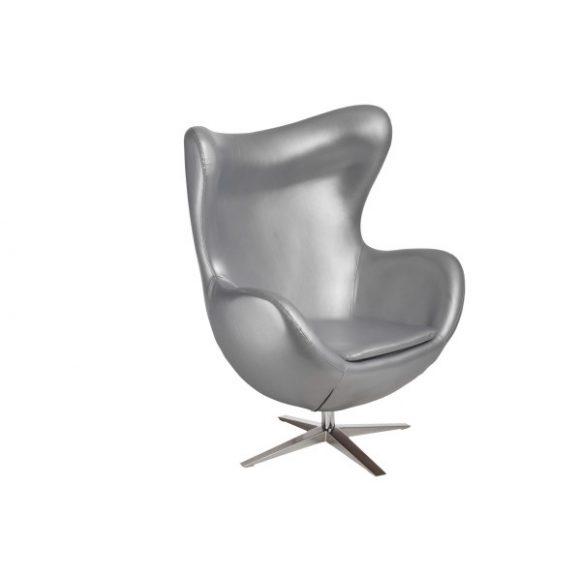 Ebby 528 Tojás Fotel Textilbőr / Ezüst