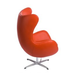 Ebby 67 Tojás Fotel Bőr / Narancs
