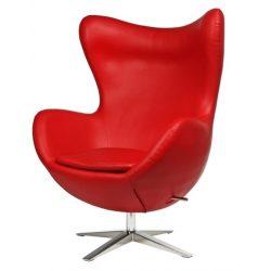 Ebby Tojás Fotel Textilbőr / Piros