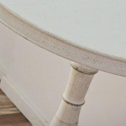 Enya Asztal 65 cm / Koptatott Fehér