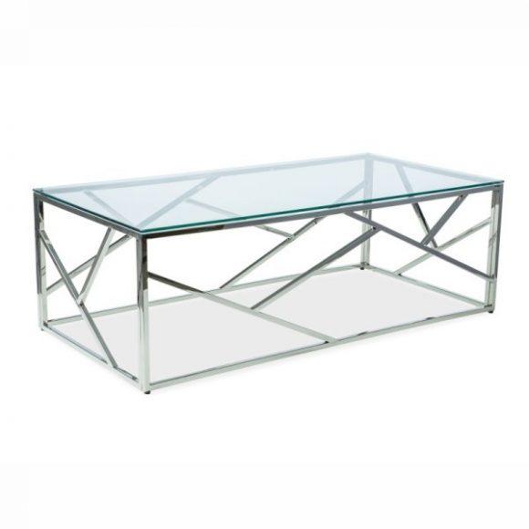 Edith A Dohányzóasztal Üveg / Króm