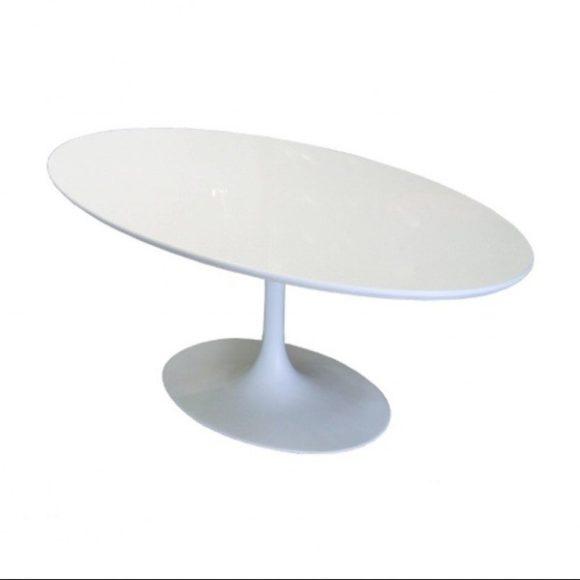 Fabian Ovális Étkezőasztal 120 x 200 cm / Fehér