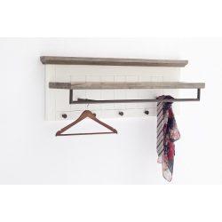 Gaby Kabátakasztó Panel 124 x 40 x 30 cm / Akác / Lakkozott Fehér