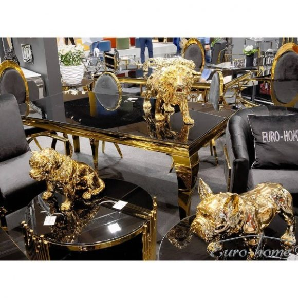 Grant Étkezőasztal 200 cm Arany / Fekete