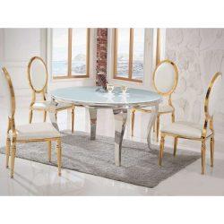 Grant Étkezőasztal 120 cm Ezüst / Fehér