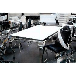 Grant Étkezőasztal 150 cm Ezüst / Fehér