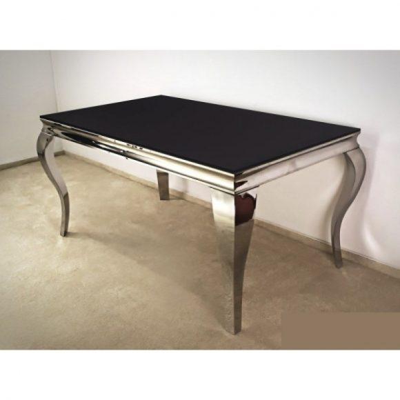 Grant Étkezőasztal 150 cm Ezüst / Fekete