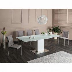 Hudson Bővíthető Étkezőasztal 160 cm Fehér