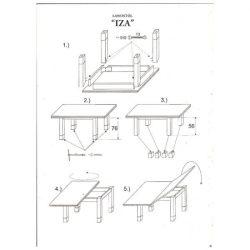 Izzy Dohányzó- Étkezőasztal 62- 124 cm  / Sonoma Tölgy