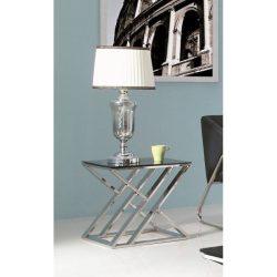 Campbell Lerakóasztal 50 cm Fekete / Ezüst