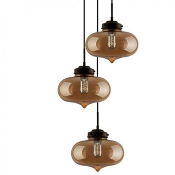 London Loft No.1 Co.3 B mennyezeti lámpa borostyán