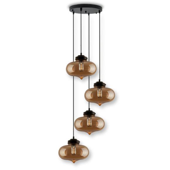London Loft No.1 Co.4 B mennyezeti lámpa borostyán