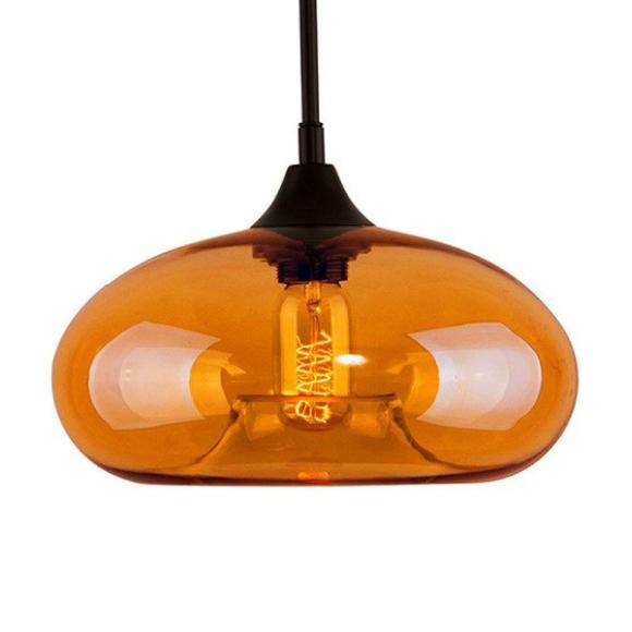 London Loft No.3 mennyezeti lámpa borostyán sárga