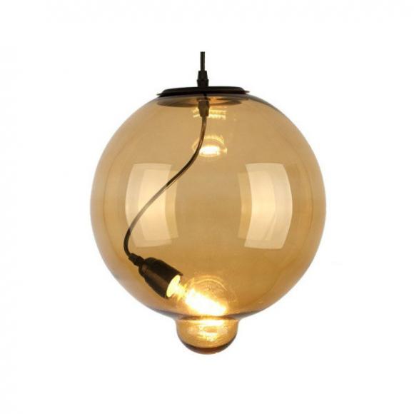 Bubble CO.5 mennyezeti lámpa borostyán, kávébarna