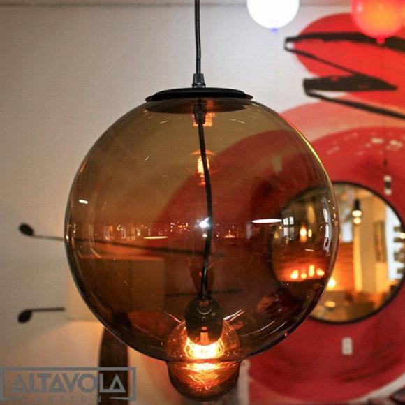 Bubble mennyezeti lámpa kávé