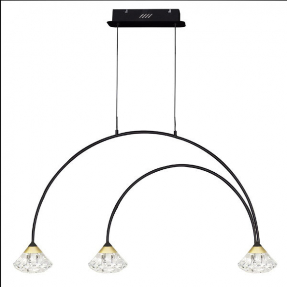 Tiffany No 3 CL1 mennyezeti lámpa fekete