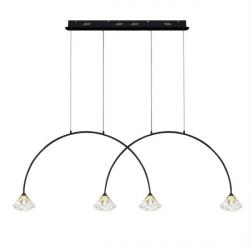 Tiffany No 3 CL2 mennyezeti lámpa fekete