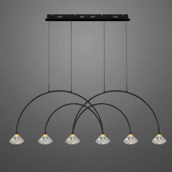 Tiffany No 3 CL4 mennyezeti lámpa fekete