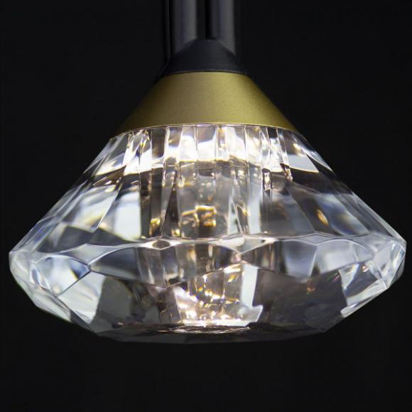 Tiffany No 1 W fali lámpa fekete
