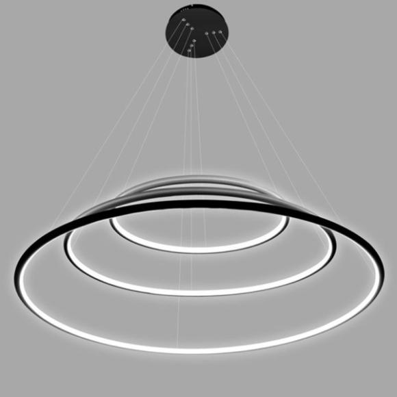 Ring No.3. mennyezeti lámpa fekete 100 cm