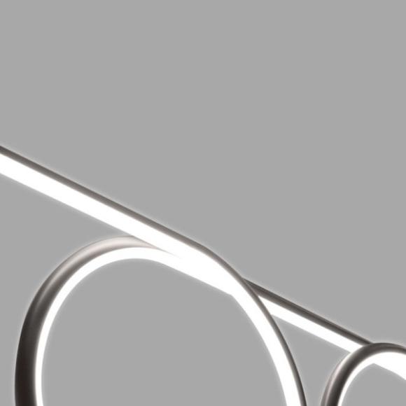 Ring No 8 mennyezeti lámpa szürke 100cm