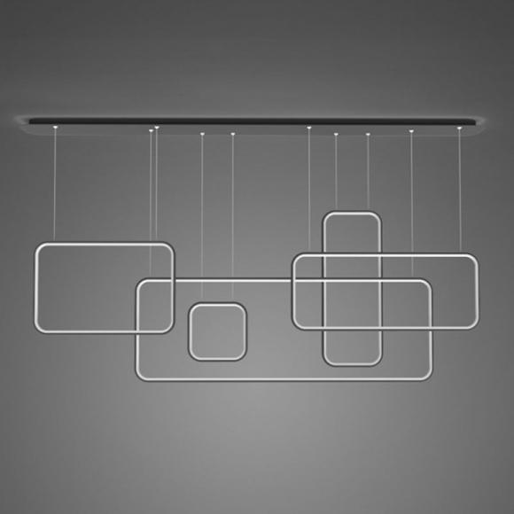 Squares 5 CL mennyezeti lámpa fekete 150cm