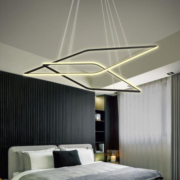 Quadrat No 2. mennyezeti lámpa fekete 80 cm