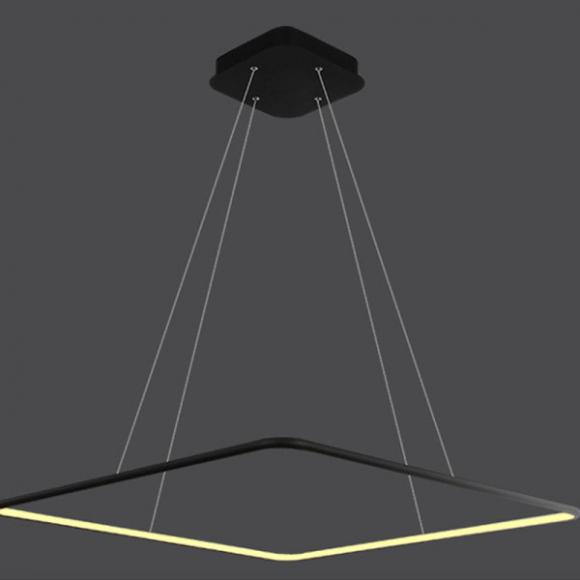 Quadrat No 1. mennyezeti lámpa fekete 80 cm