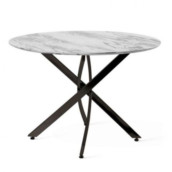 LISA márványmintás étkezőasztal 75x100cm fekete