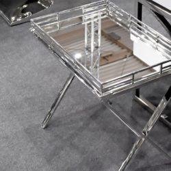 Suzan Asztal Tálcával 55 x 57 cm / Ezüst