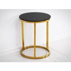 Reese Lerakóasztal 40 cm / Fekete / Arany
