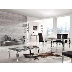 Lauren Dohányzóasztal 130 cm / Fekete / Ezüst