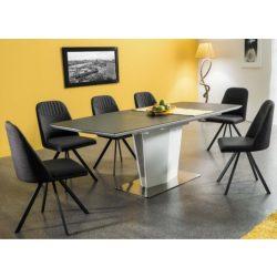 Lily Bővíthető Étkezőasztal 160 - 210 cm Szürke / Fehér