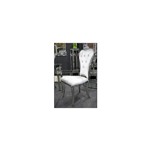 Lino ezüst kárpitozott szék