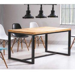 Larissa A Tölgyfa Asztal 180 cm / Fekete
