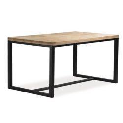 Larissa A Tölgyfa Asztal 120 cm / Fekete