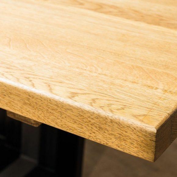 Larissa II Tölgyfa Asztal 120 cm / Fekete