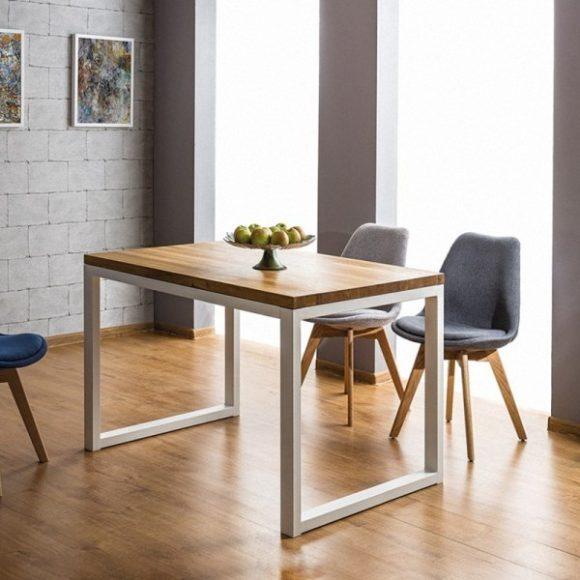 Larissa II Tölgyfa Asztal 180 cm / Fehér